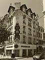 Vue N&B des 2 façades de l'immeuble rues Bérard et Gillet Saint Etienne.jpg