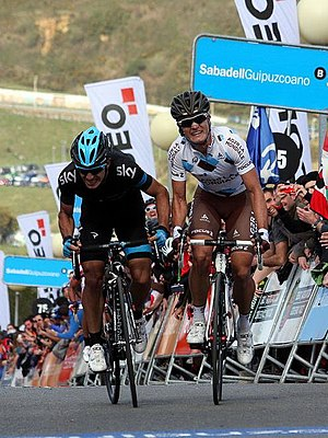 Sergio Henao - Henao outsprinted Carlos Betancur to win the third stage of the Tour of the Basque Country.