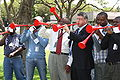 Vuvuzela US Embassy Pretoria World AIDS Day 2009.jpg