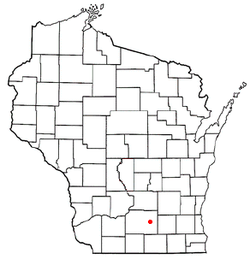 Location of Cottage Grove (town), Wisconsin