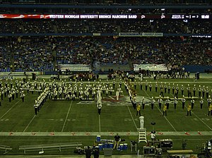 WMU Marching Band at International Bowl in TO.JPG