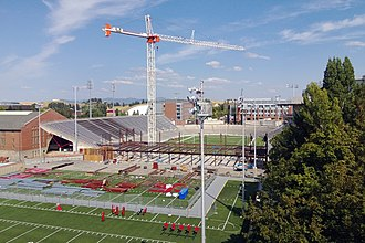 Martin Stadium - West End-Zone Project under construction in August 2013