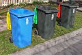 WWCC 240 litre Recycling, Green waste and Garbage bins.jpg