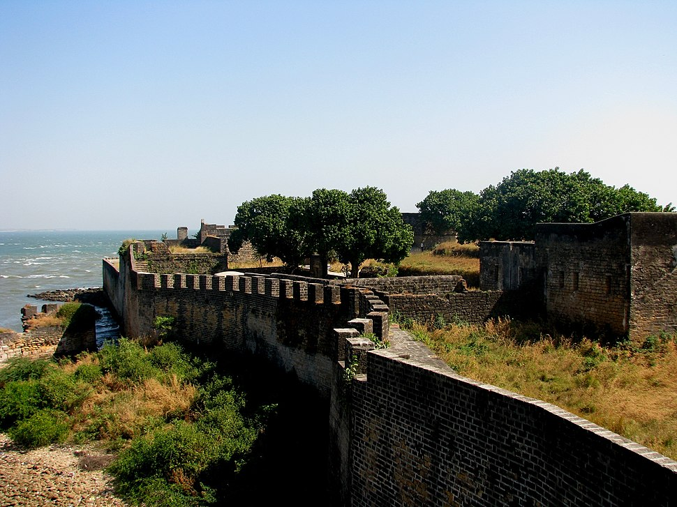 Wall of the Portuguese Fort of Diu