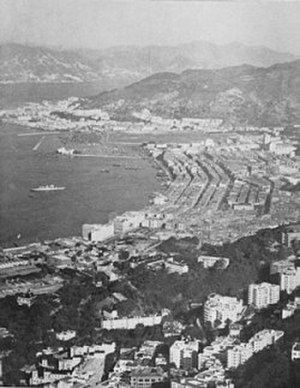 Wan Chai - The coastline of Wan Chai in the early 1960s