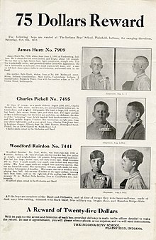 The boys pictured from the front and side with descriptions in text