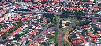 Wye (rail) - A park located within a triangular junction in Sydney, Australia