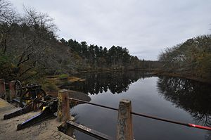 Conant's Hill Site - View of Horseshoe Pond from the dam