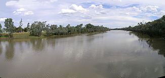 Warrego River in Cunnamulla