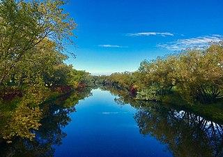 Wascana Creek river in Canada