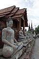 Wat Yai Chai Mongkon - rangée.jpg
