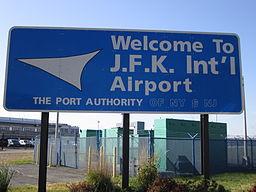 Welcome John F. Kennedy International Airport Sign