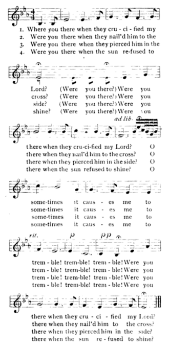 Were You There - Sheet music for Were You There