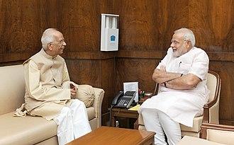 Keshari Nath Tripathi - Keshari Nath Tripathi and Narendra Modi