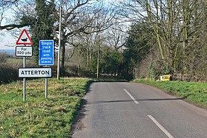 Atterton - Image: West along Atterton Road geograph.org.uk 683319