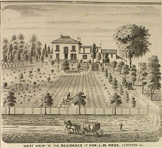 Lewis W. Ross - Image: West view of the residence of Lewis W Ross