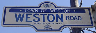 Weston, Toronto - Some street signs in the area pay tribute to the historical Town of Weston.