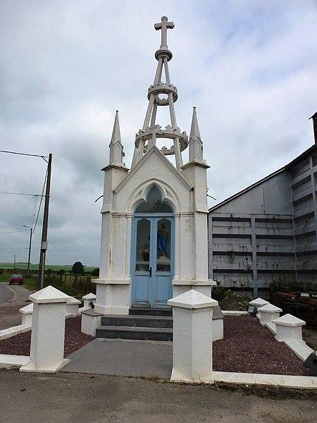 Westrehem (Pas-de-Calais, Fr) chapelle Coeur Immaculé de Marie extérieur
