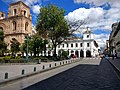 What a plaza, cuenca ecuador, at the place to catch the bus to the panama hat museum in cuenca ecuador.jpg