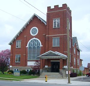 Wheatley, Ontario - Wheatley's United Church of Canada.