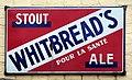 Whitebreads Stout Ale, emaille reclamebord, Bier Reclamemuseum, pic1.JPG