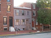 The Walt Whitman House in Camden, New Jersey.