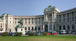 Hofburg Neue Burg section, seen from Heldenpla...