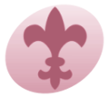 WikiProject Scouting fleur-de-lis pink.png