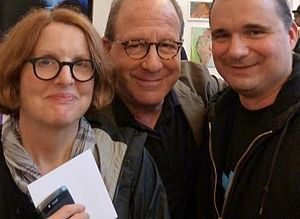 Roberta Smith - Roberta Smith with Jerry Saltz (center) and artist Terry Ward, 2012