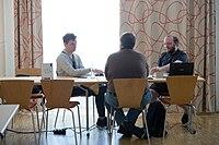 Wikimedia Hackathon Vienna 2017-05-19 Hacking Gurkerl 001.jpg