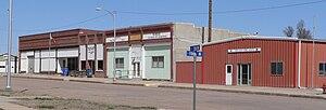 Wilcox, Nebraska - Downtown Wilcox: East side of Main Street, looking northeast from Franklin Street