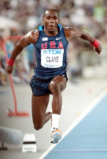 English: Will Claye during 2011 World champion...