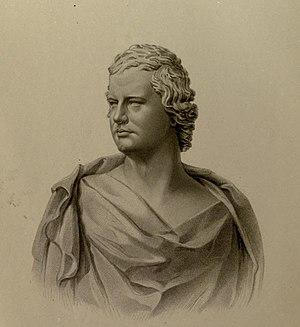 William Edmondstoune Aytoun - Engraving by J.C. Armytage from the bust of Aytoun by Scottish sculptor Patric Park
