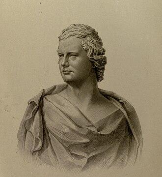 William Edmondstoune Aytoun - Engraving by J.C. Armytage from the bust of Aytoun by Scottish sculptor Patric Park