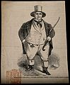 William Ball, a man weighing forty stone. Wood engraving. Wellcome V0006973.jpg