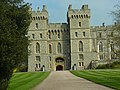 Windsor castle rear entrance, waiting to catch a glimplse of The Queen.JPG