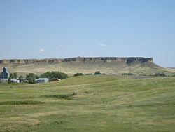 Rimrocks just south of Winnett, MT, home to many local large cats