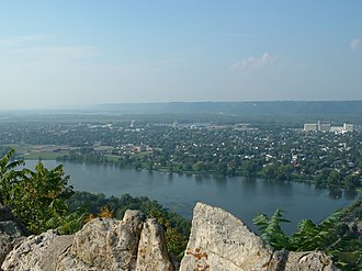 Winona, Minnesota - Winona from Garvin Heights