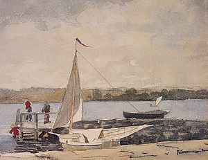 Winslow Homer - A sloop at a wharf, Gloucester.jpg