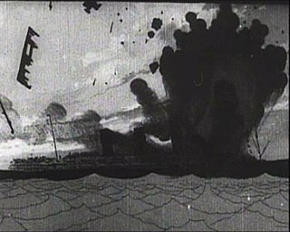 <i>The Sinking of the Lusitania</i> 1918 silent animated short documentary