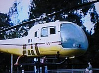 The ground mounted rotating Bell helicopter