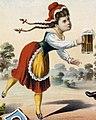 Woman with beer stein detail, Bock beer LCCN2006677689 (cropped).jpg