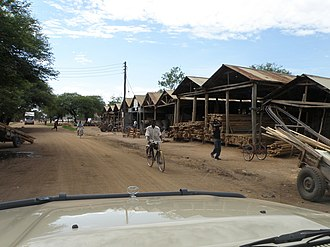 Shinyanga - A wood market in the city during the day time.