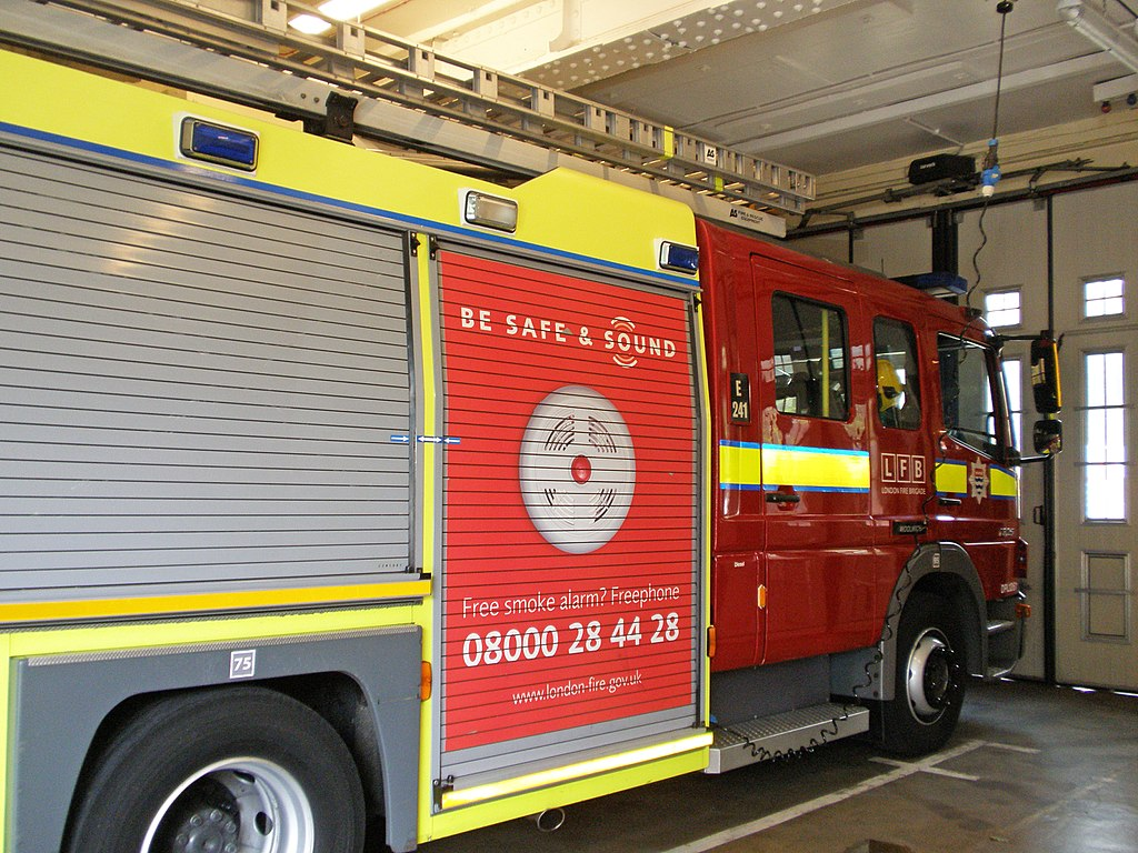 File:Woolwich Fire Station - Be Safe and Sound - LFB
