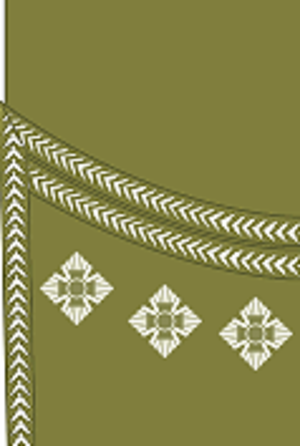 Captain (British Army and Royal Marines) - Image: World War I British Army captain's rank insignia (sleeve, Scottish pattern)