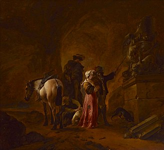 Wouwerman Travellers in a grotto.jpg