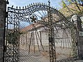Wrought iron gate decorated with five-pointed star. Dream Car Museum. - Budapest District 22. Budafok, Leányka St. 1 B.JPG