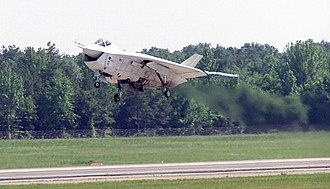Aviation in Arkansas - The Boeing X-32B taking off from Little Rock Air Force Base, Arkansas