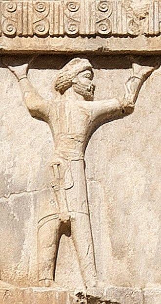 Cappadocia (satrapy) - Cappadocian soldier of the Achaemenid army circa 470 BCE. Xerxes I tomb relief.