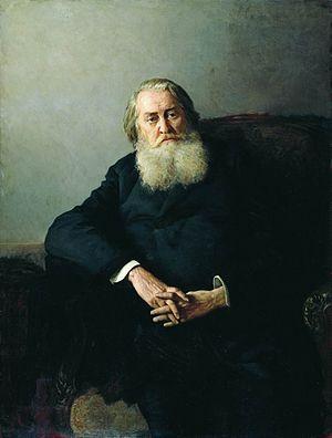 Aleksey Pleshcheyev - Pleshcheyev's portrait by Nikolai Yaroshenko.